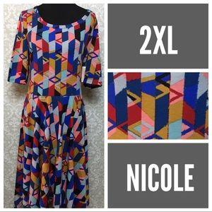 LuLaRoe Nicole dress 2XL